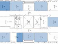 Volné kanceláře jsou označené modře - Pronájem kancelářských prostor 25 m², Žatec
