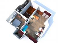 Vizualizace možné rekonstrukci 2.NP (Prodej domu v osobním vlastnictví 150 m², Žatec)
