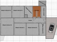 půdorys suterén  (Prodej domu v osobním vlastnictví 600 m², Vejprty)