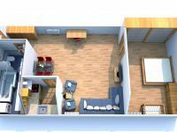 Půdorys bytu (Pronájem bytu 2+1 v osobním vlastnictví 66 m², Smolnice)
