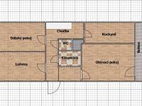Půdorys (Prodej bytu 3+1 v družstevním vlastnictví 71 m², Praha 5 - Stodůlky)