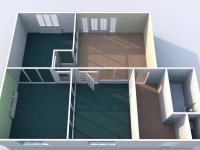 Půdorys 1.NP - Pronájem kancelářských prostor 210 m², Žatec