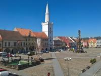 Pohled na Mírové náměstí - Pronájem bytu 3+1 v osobním vlastnictví 140 m², Kadaň