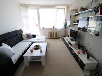 obývací pokoj s lodžií - Prodej bytu 3+1 v družstevním vlastnictví 78 m², Jirkov
