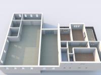 Půdorys přízemí + byt v patře - Prodej komerčního objektu 6324 m², Modlany