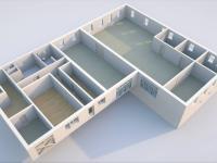 Půdorys přízemí II - Prodej komerčního objektu 6324 m², Modlany