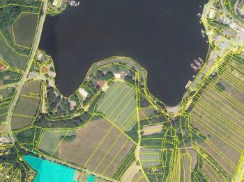 letecký pohled - Prodej pozemku 14524 m², Brno