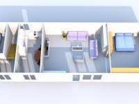 Půdorys bytu v patře. (Prodej domu v osobním vlastnictví 118 m², Brázdim)