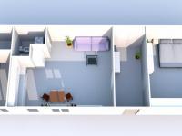 Půdorys bytu v přízemí.  (Prodej domu v osobním vlastnictví 118 m², Brázdim)