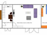Půdorys byt v patře (Prodej domu v osobním vlastnictví 118 m², Brázdim)