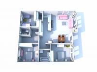 Půdorys domu.  - Prodej domu v osobním vlastnictví 85 m², Kladno