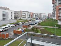 výhled z balkónu - Pronájem bytu 2+kk v osobním vlastnictví 48 m², Praha 9 - Letňany