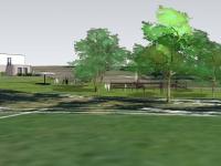 Vizualizace domu a pozemku kolem. - Prodej domu v osobním vlastnictví 93 m², Vinařice