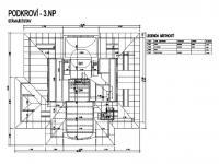 Půdorys 3. NP  - Pronájem kancelářských prostor 600 m², Jablonec nad Nisou