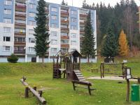 foto 3 - dětské hřiště u domu (Prodej bytu 3+1 v osobním vlastnictví 74 m², Jiřetín pod Bukovou)