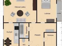 02 (Prodej bytu 2+1 v družstevním vlastnictví 64 m², Jablonec nad Nisou)
