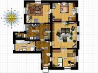 plánek 2D - Pronájem bytu 4+1 v osobním vlastnictví 125 m², Liberec
