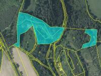 katastrální mapa  - část 1 - Prodej pozemku 36149 m², Český Dub