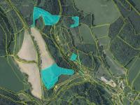 katastrální mapa - ortofoto - Prodej pozemku 36149 m², Český Dub