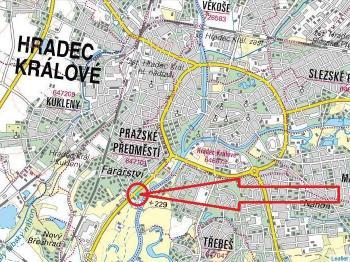 Prodej pozemku 3332 m², Hradec Králové
