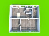Půdorys 2.NP - Prodej domu v osobním vlastnictví 205 m², Blučina
