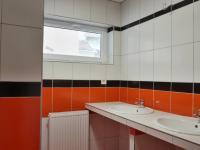 Koupelna se sprchovým koutem a dvěma umyvadly (Prodej bytu 3+kk v družstevním vlastnictví 83 m², Brno)