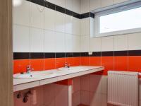 Koupelna se sprchovým koutem a dvěma umyvadly (Prodej bytu 3+kk v družstevním vlastnictví 94 m², Brno)