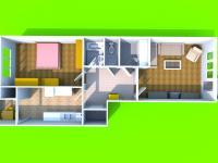 3D dispozice (Prodej bytu 2+1 v osobním vlastnictví 78 m², Brno)