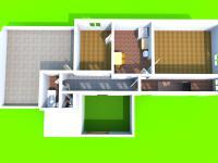 3D dispozice 2.NP (Prodej domu v osobním vlastnictví 220 m², Újezd u Boskovic)