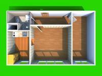 3D dispozice bytu (Prodej bytu 2+1 v osobním vlastnictví 44 m², Přerov)