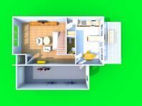 3D dispozice přízemí (Prodej domu v osobním vlastnictví 210 m², Mikulov)