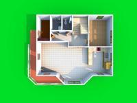 3D dispozice 1.NP (Prodej domu v osobním vlastnictví 245 m², Brno)