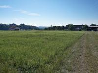 Pohled na pozemek - západní směr - Prodej pozemku 1340 m², Habrůvka