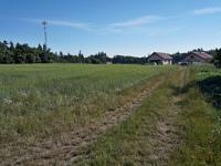 Pohled na pozemek - východní směr - Prodej pozemku 1340 m², Habrůvka