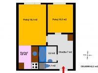 Prodej bytu 2+kk v osobním vlastnictví 43 m², Kolín