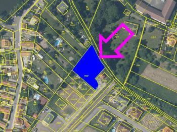Mapa, zdroj cuzk.cz - Prodej pozemku 1410 m², Jirny