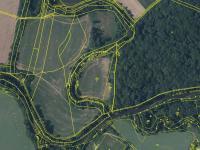 Katastrální mapa, zdroj cuzk.cz (Prodej pozemku 24549 m², Starý Kolín)