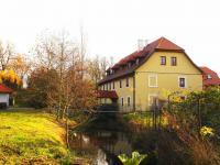 Pohled na hlavní budovu ze zahrady (Prodej penzionu 700 m², Žabonosy)