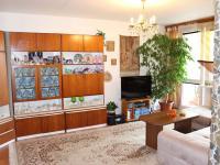 Obývací pokoj se vstupem na lodžii (Prodej bytu 4+1 v osobním vlastnictví 94 m², Praha 9 - Kyje)