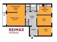 Orientační půdorys (Prodej bytu 4+1 v osobním vlastnictví 94 m², Praha 9 - Kyje)