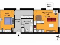 Prodej bytu 2+kk v osobním vlastnictví 50 m², Velký Osek