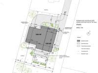 Situace s rozměry (Prodej domu v osobním vlastnictví 266 m², Kostelní Lhota)