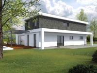 Vizualizace exteriéru (Prodej domu v osobním vlastnictví 266 m², Kostelní Lhota)