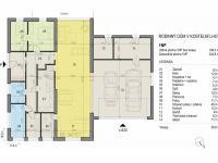 Půdorys 1. NP (Prodej domu v osobním vlastnictví 266 m², Kostelní Lhota)