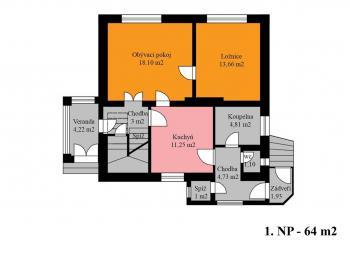 1. NP - Prodej domu v osobním vlastnictví 171 m², Plaňany