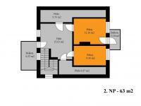 2. NP (Prodej domu v osobním vlastnictví 171 m², Plaňany)