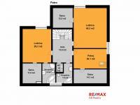 orientační půdorys patro - Pronájem domu v osobním vlastnictví 300 m², Jesenice