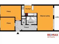 Orientační půdorys (Prodej bytu 3+kk v osobním vlastnictví 71 m², Kolín)