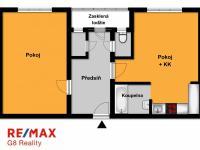 Orientační půdorys (Prodej bytu 2+kk v osobním vlastnictví 54 m², Kutná Hora)