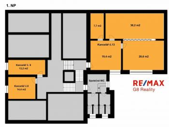 Pronájem kancelářských prostor 14 m², Kolín